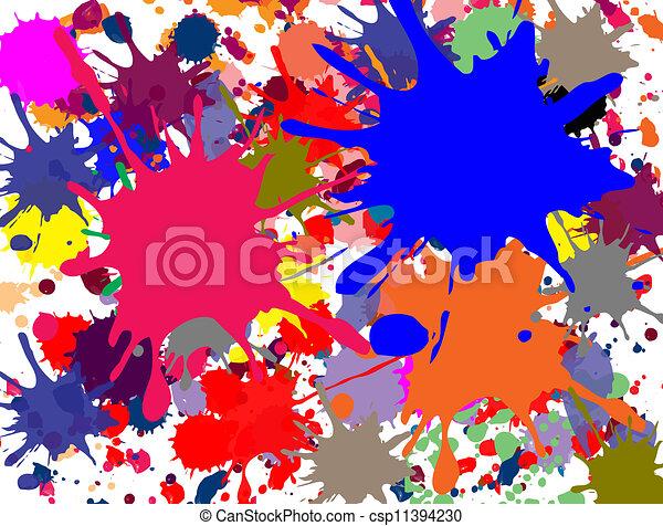 éclaboussé, multi-coloré - csp11394230