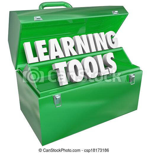 écolier, apprentissage, mots, enseignement, boîte outils, education, outils - csp18173186