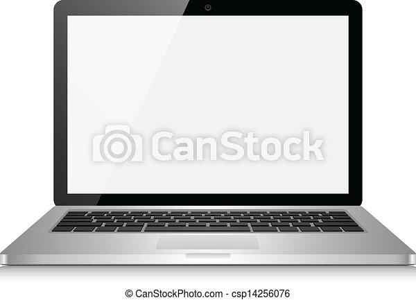 écran, informatique, vide, ordinateur portable - csp14256076