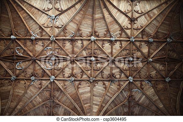 église, plafond, chapelle, angleterre, fitzalan - csp3604495