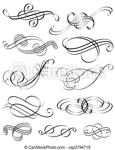 éléments, calligraphic - csp3794719