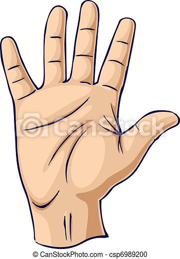 élevé, ouvert, geste, main - csp6989200