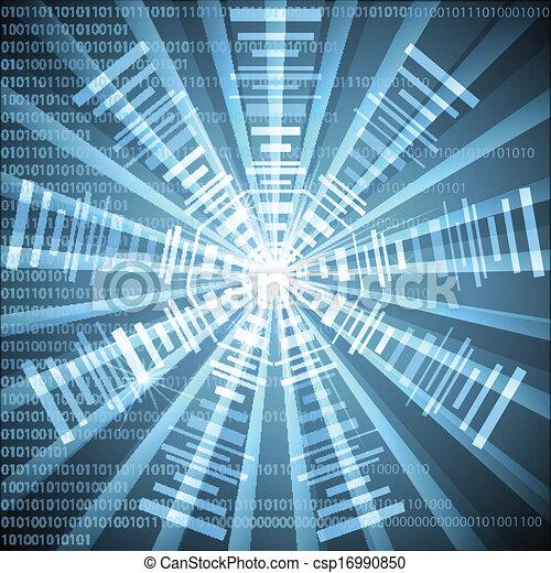 élevé, résumé, vecteur, technologie, futuriste - csp16990850