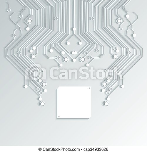 élevé, résumé, vecteur, technologie, fond - csp34933626