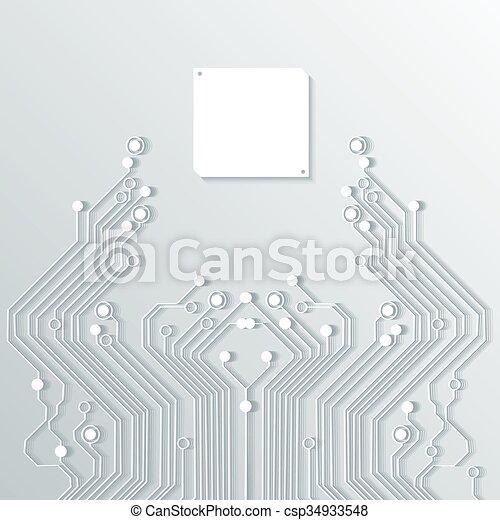 élevé, résumé, vecteur, technologie, fond - csp34933548