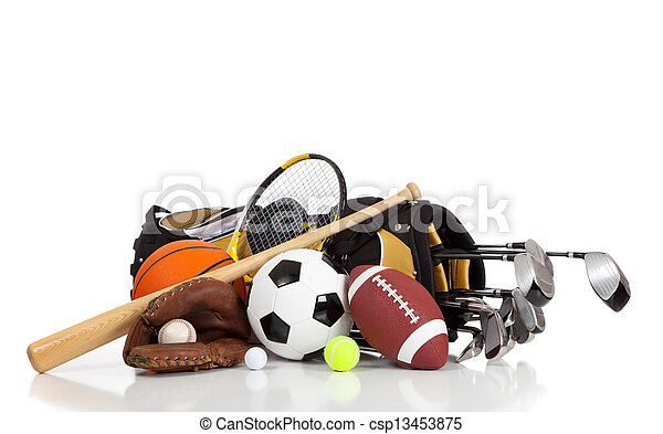 équipement, blanc, sports, fond, assorti - csp13453875