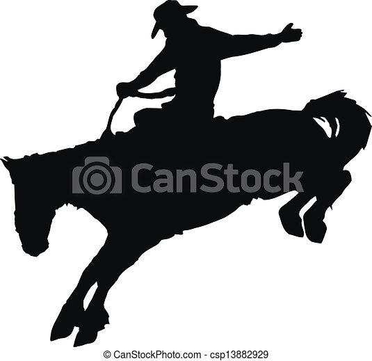 équitation, cheval, rodeo., cow-boy - csp13882929