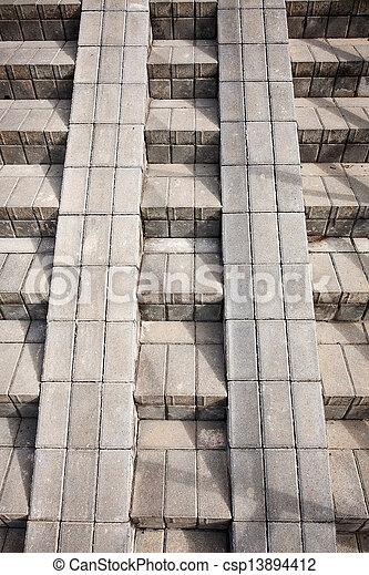 étapes, béton - csp13894412