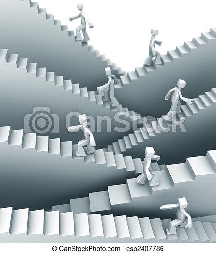étapes, concept, croissance, ou, reussite - csp2407786