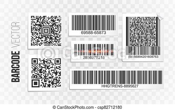 étiquette, ensemble, barcode, vecteur - csp82712180