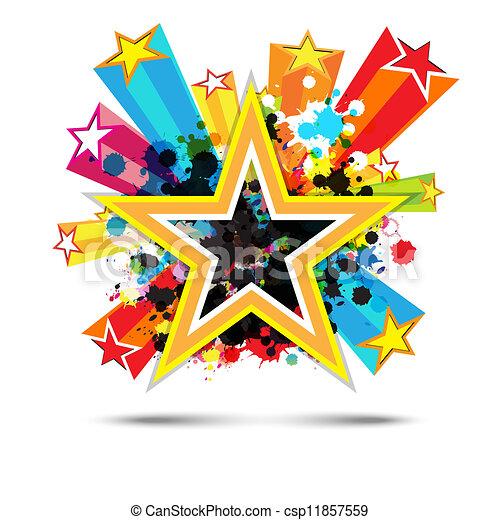 étoile, conception abstraite, fond, célébration - csp11857559