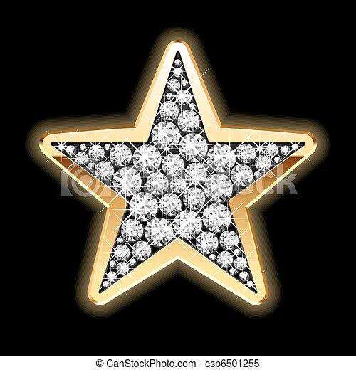 étoile, diamants - csp6501255