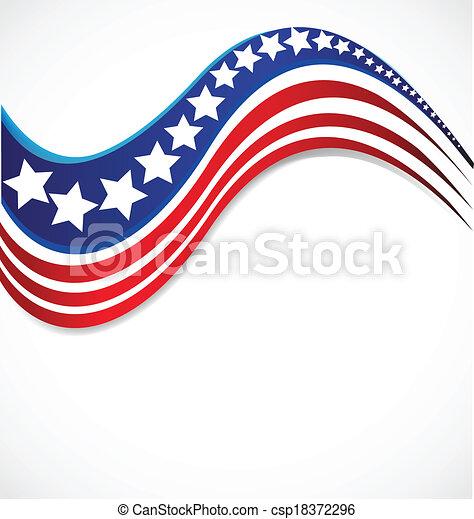 étoile, drapeau etats-unis, conception, brochure, logo - csp18372296