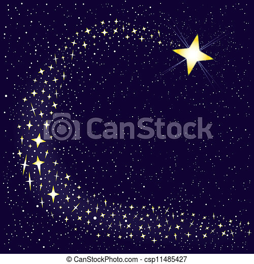 étoile filante - csp11485427