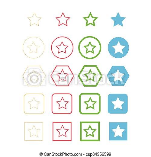 étoile, icône - csp84356599