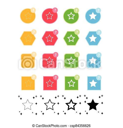 étoile, icône - csp84356626