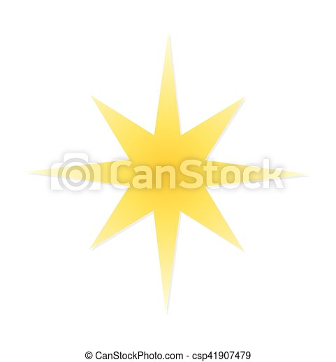 étoile, noël, icône - csp41907479