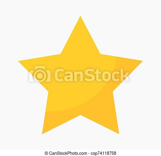 étoile or, icon. - csp74118758