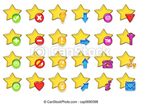 étoiles, icône - csp0690398
