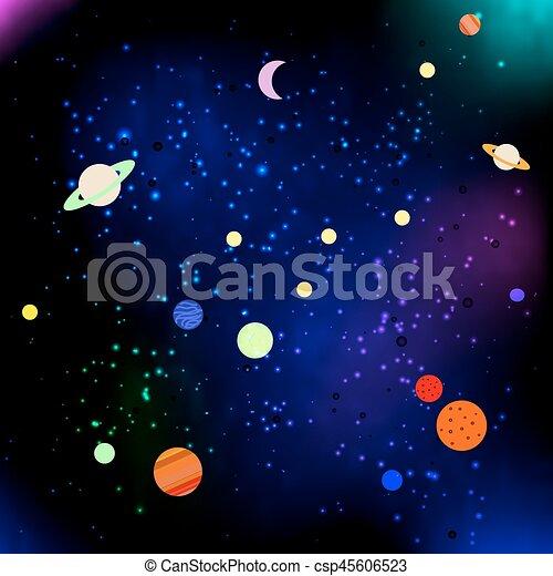 étoiles, planètes, espace - csp45606523
