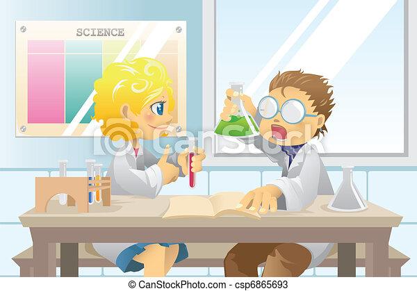 étudiants, projet science - csp6865693