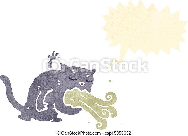 être, dessin animé, malade, chat - csp15053652