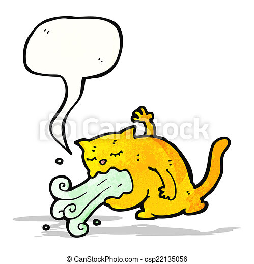 être, dessin animé, malade, chat - csp22135056