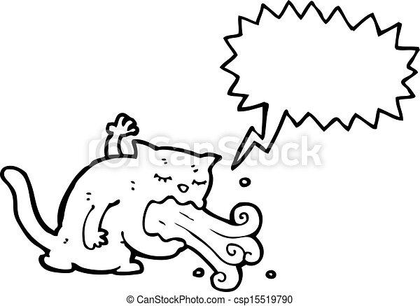 être, dessin animé, malade, chat - csp15519790