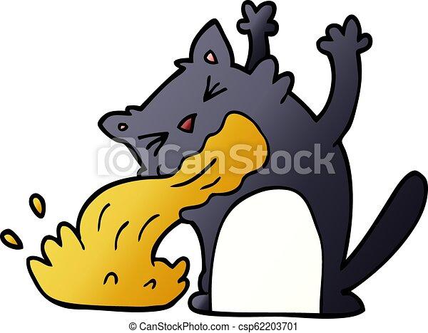 être, griffonnage, dessin animé, malade, chat - csp62203701