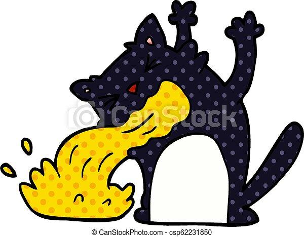 être, griffonnage, dessin animé, malade, chat - csp62231850