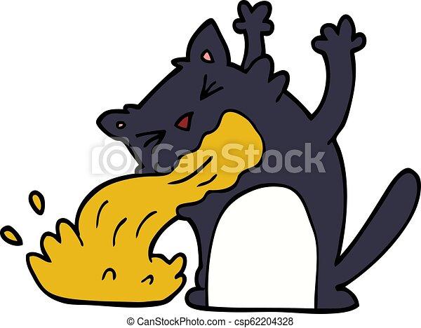 être, griffonnage, dessin animé, malade, chat - csp62204328
