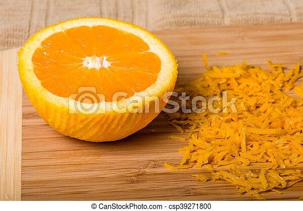 être, produire, coupure, zeste, orange - csp39271800