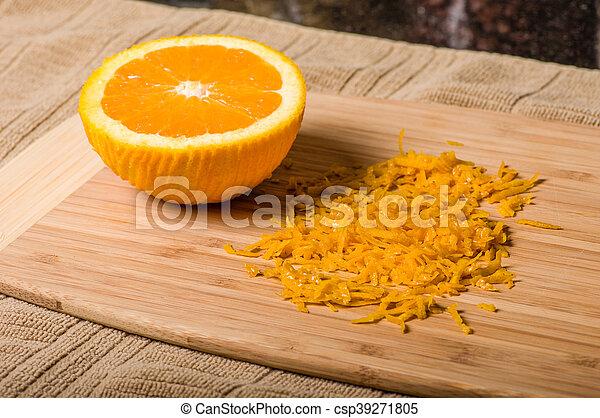 être, produire, coupure, zeste, orange - csp39271805