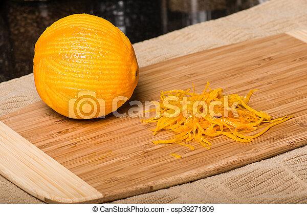 être, produire, coupure, zeste, orange - csp39271809