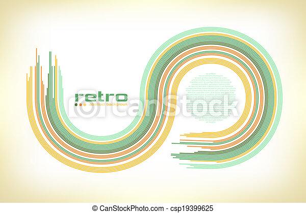 -, fond, résumé, disco, vector. - csp19399625