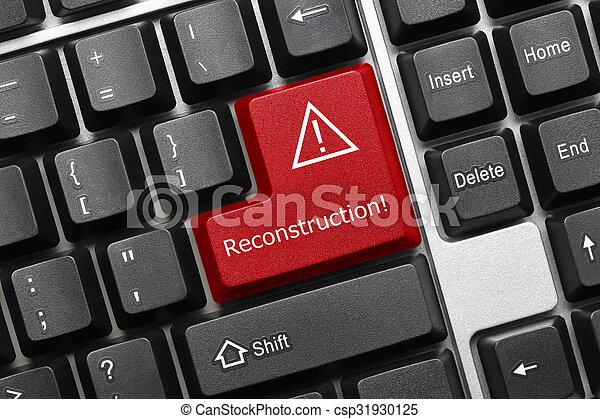 -, (red, key), reconstruction, clavier, conceptuel - csp31930125