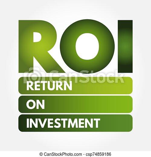 -, roi, acronyme, retour, investissement - csp74859186