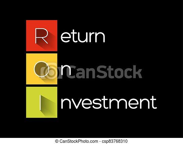 -, roi, retour, acronyme, investissement - csp83768310