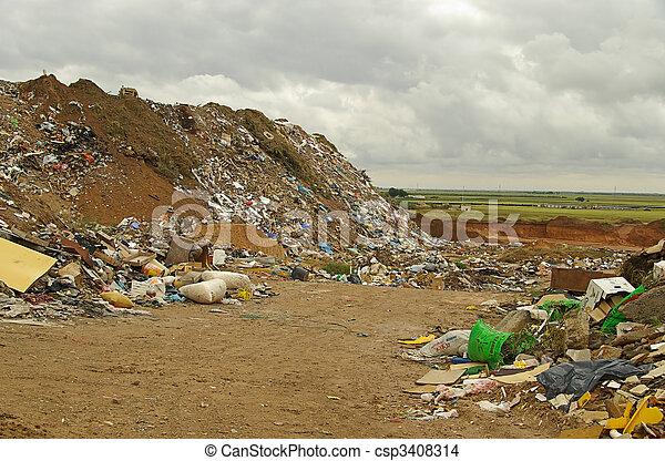 01, décharge ordures - csp3408314