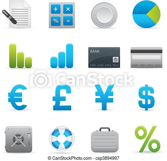 01, indigo, finance, icônes, série,   - csp3894997