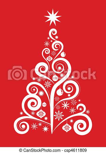 1, arbre, -, noël - csp4611809