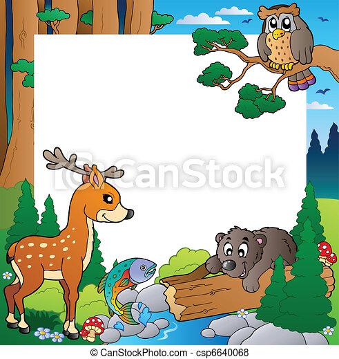 1, cadre, thème, forêt - csp6640068