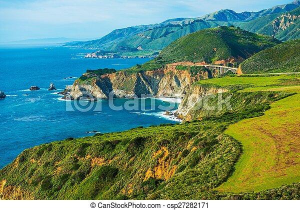 1, californie, côtier, autoroute - csp27282171