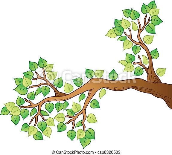 1, feuilles, arbre, dessin animé, branche - csp8320503