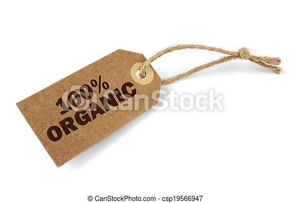 100%, organique, étiquette - csp19566947