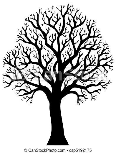 2, arbre, sans, silhouette, feuille - csp5192175