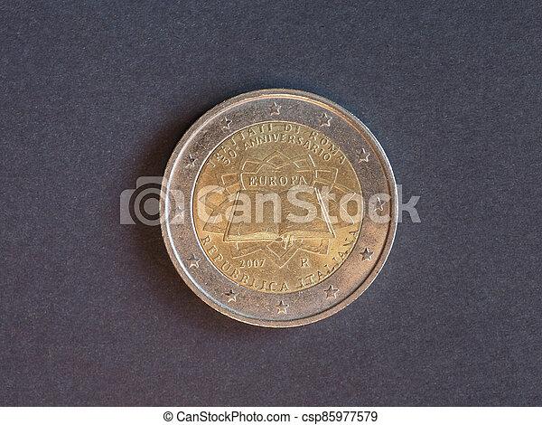 2, euro, italie, europe, monnaie - csp85977579