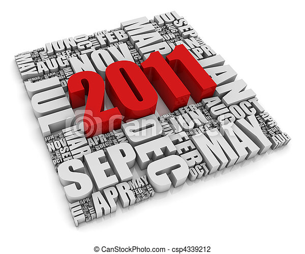 2011, année - csp4339212