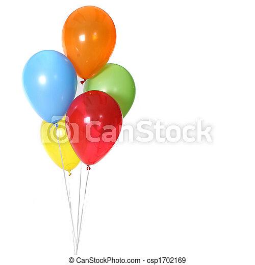 5, anniversaire, ballons, célébration - csp1702169