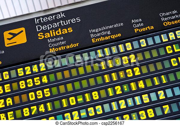 aéroport, départs, planche - csp2256167